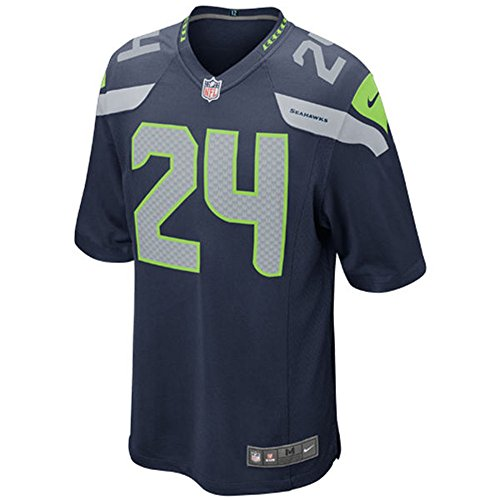 24 Marshawn Lynch Jersey Kids American Football Game Jerseys Navy Size L (Kids American Football Jerseys compare prices)