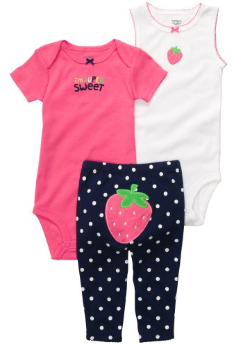 Carter's 3-Piece Set - Pink-12 Months
