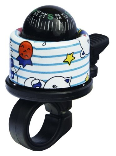 FirstBIKE Clown Compass Bell, White and Blue