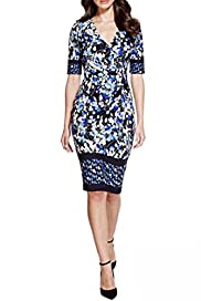 Per Una Demure Floral Border Dress [T62-6662J-S]