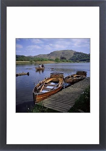 Framed Artwork of Boating on Grasmere, Lake District, Cumbria, England, United Kingdom, Europe