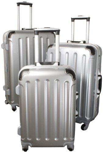 Polycarbonat-ABS-Kofferset Dublin 3tlg silber