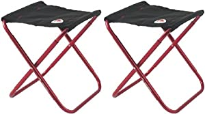 2 X ROBENS DISCOVER RED PORTABLE FOLDING STOOL CAMPING HIKING EQUIPMENT