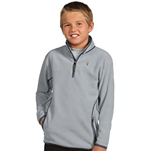 Arizona State YOUTH Unisex Ice Polar Fleece Pullover (Grey) by Antigua