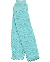juDanzy Ruffle baby leg warmers in various colors for girls, toddler, child (Aqua)