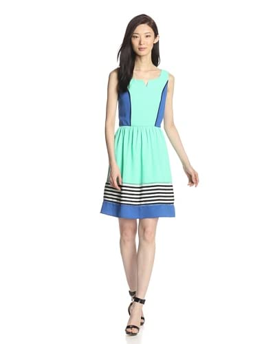 Romeo & Juliet Couture Women's Mixed Media Woven Dress