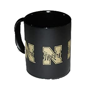 University of Nebraska Lincoln NU Huskers - Coffee Mug / Cup - gold color Nlogo design on flat black