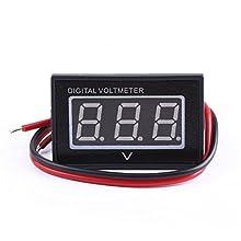 "DROK® 0.40"" Green LED Waterproof Digital Voltage Panel Self Powered Mounting Meter DC 2.7-30V Voltmeter Outdoor Gauge Power Detector Tester 2 Wires for Car Motor Auto Vehicle"