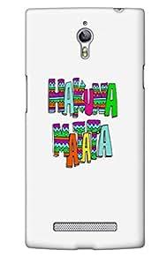 The Fappy Store Hakuna-matata1 plastic Back Cover For Oppo Find 7