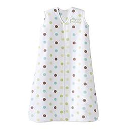 HALO SleepSack 100% Cotton Wearable Blanket, Green/Blue/Grey Circle, Large