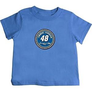 Buy Checkered Flag Jimmie Johnson Toddler Littlest Fan T-Shirt - Blue by Checkered Flag