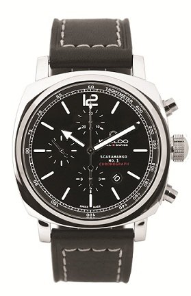Kadloo Scaramango Valjoux 7750 Automatic Watch with Black Dial