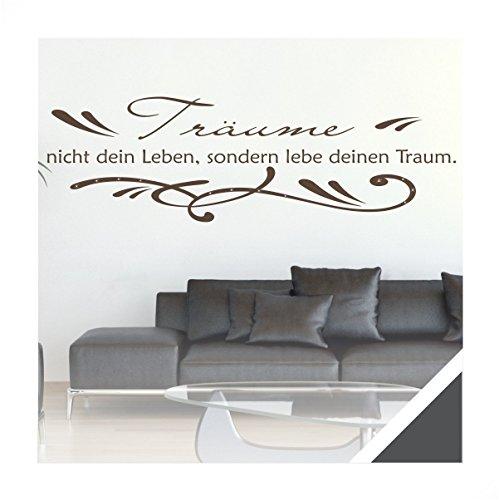 wandtattoo zitat spruch tr ume nicht dein leben inkl. Black Bedroom Furniture Sets. Home Design Ideas