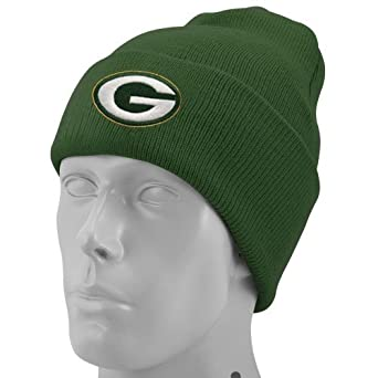 NFL End Zone Cuffed Knit Hat - K010Z, Green Bay Packers, One Size Fits All by Reebok