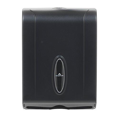 Georgia-Pacific GP 56650/01 Translucent Smoke Combination C-Fold or Multifold Paper Towel Dispenser, (WxDxH) 11.00