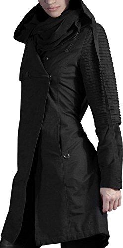 Musterbrand Star Wars Cappotto con cappuccio Donna Sith Lady Giacca Nero L