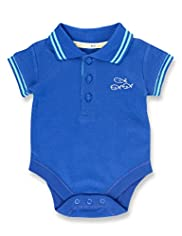 Pure Cotton Short Sleeve Polo Bodysuit