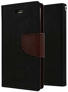 MVTH Mercury Goospery Wallet Flip Case Cover for Samsung Galaxy Note 3 Neo N7505 - Black/Brown