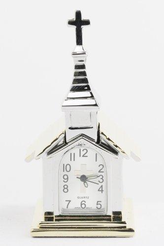 Karmas Canvas Metal Church Clock (Two Tone)
