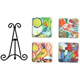 Creative Co-Op Jessica Swift Resin Coaster With Stand