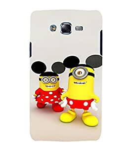 printtech Minions Mickey Mouse Back Case Cover for Samsung Galaxy A7 / Samsung Galaxy A7 A700F