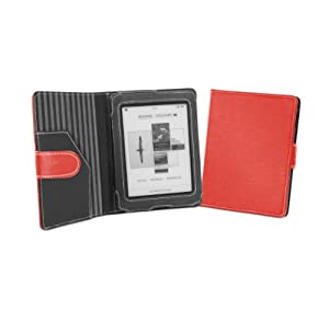 Cover-Up Kobo Mini (5-inch) eReader Cover Case With Auto Sleep / Wake Function (Book Style) - (Red) at Electronic-Readers.com
