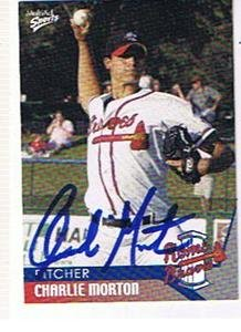 CHARLIE MORTON 2004 ROME BRAVES AUTOGRAPHED CARD !! by Bud