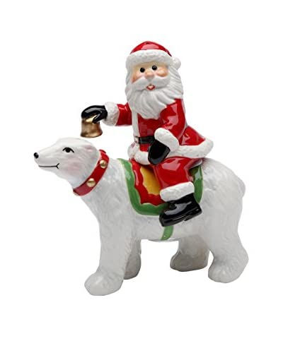 Cosmos Santa Riding Polar Bear Salt & Pepper Set