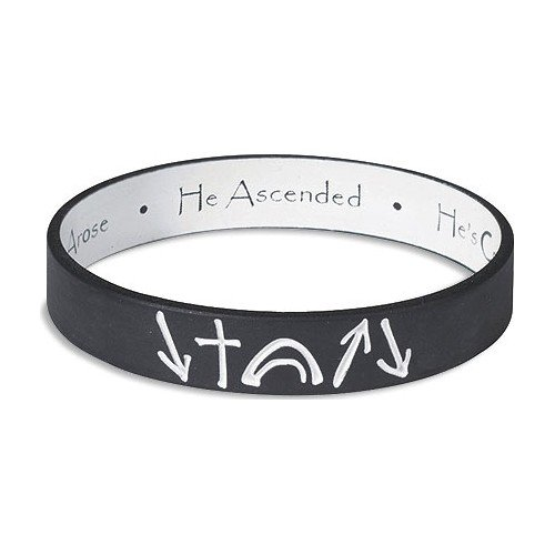 Black and White reversible Witness Band Silicone Bracelet - 1