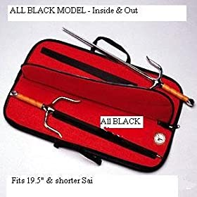 BLACK Sai Weapons Carry Case for Sai up to 19.5 inch long
