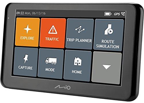 """MIO Spirit 8670 LM Truck Navigationsgerät für Größere Fahrzeuge mit 6.2"""" Touchscreen, Bluetooth Technologie, Freisprecheinrichtung,  Lebenslangen Kartenupdates und Radarfall-Info, 3D Junction Views, Parkhilfe uvm. - Gesamt EU"""