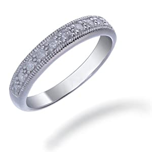 1/4 CT Diamond Ring in Sterling Silver (Available in Sizes 5 - 9) from FineDiamonds9