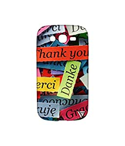 Vogueshell Thank You Printed Symmetry PRO Series Hard Back Case for Samsung Galaxy Grand Neo Plus