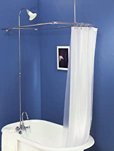 Add On Shower For Clawfoot Tub With Riser Diverter Faucet With Shower C