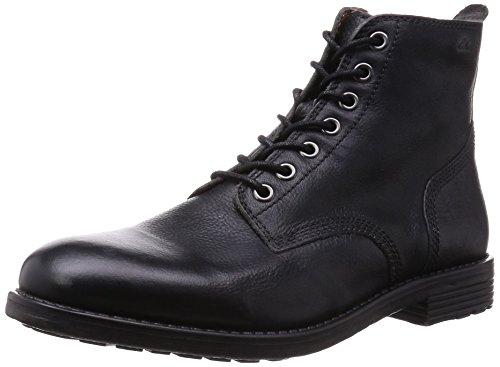 Clarks Faulkner Rise - Stivaletti Uomo, Nero (Black Leather), 41 EU