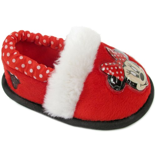 Disney 1Mnf226 Minnie Mouse Slipper (Toddler/Little Kid),Red,Large (9-10 M Us Toddler) front-35110