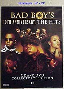 """BAD BOY'S 10th Anniversary P DIDDY NOTORIOUS BIG FAITH EVANS Poster 18""""x24"""""""