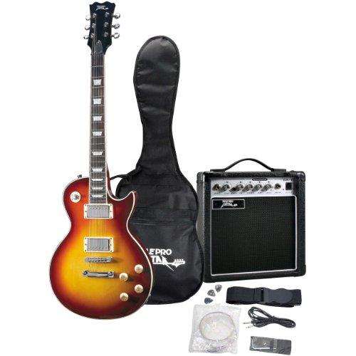beginner kits pyle pro pgekt453sb professional 42 39 39 les paul style electric guitar package. Black Bedroom Furniture Sets. Home Design Ideas