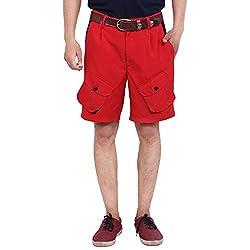 FBBIC Inspiring Red Men's Solid Short(Size::XXL)