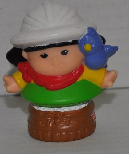 Little People Sonya Lee Zoo Keeper (2001) - Replacement Figure - Classic Fisher Price Collectible Figures - Loose Out Of Package & Print (OOP) - Zoo Circus Ark Pet Castle - 1