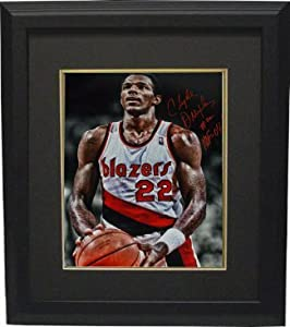 Clyde Drexler signed Portland Trail Blazers 16x20 Photo Custom Framed HOF 04 (foul... by Athlon Sports Collectibles
