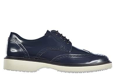 Hogan scarpe stringate calssiche men's in leather nuove derby h217