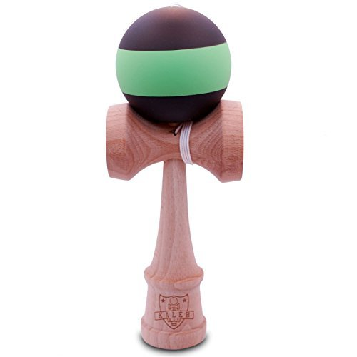 Kendama Rubberized Black & Green Matte And Extra String - 1