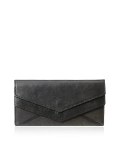 Surface to Air Women's Triple Wallet Long, Black