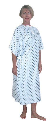Duro-Med Convalescent Gown with Side Ties, Diamond Print