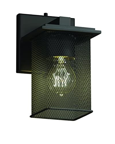 Justice Design Group Montana 1-Light Wall Sconce, Matte Black
