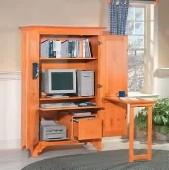 Buy Low Price Comfortable Armoires Honey Pine, Computer Armoire (B002PD92BI)
