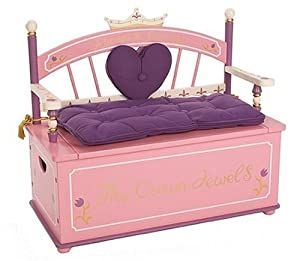 Amazon Com Levels Of Discovery Princess Toy Box Bench