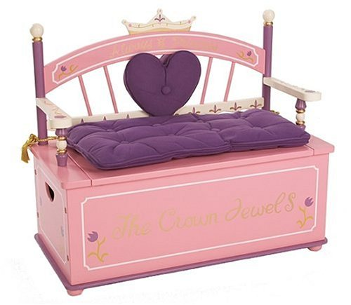 Cheap Toy Child Levels Of Discovery Princess Toy Box Bench