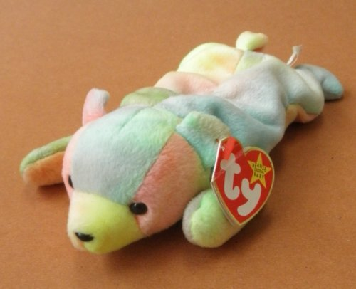 TY Beanie Babies Sammy the Multi-Color Bear Plush Toy Stuffed Animal